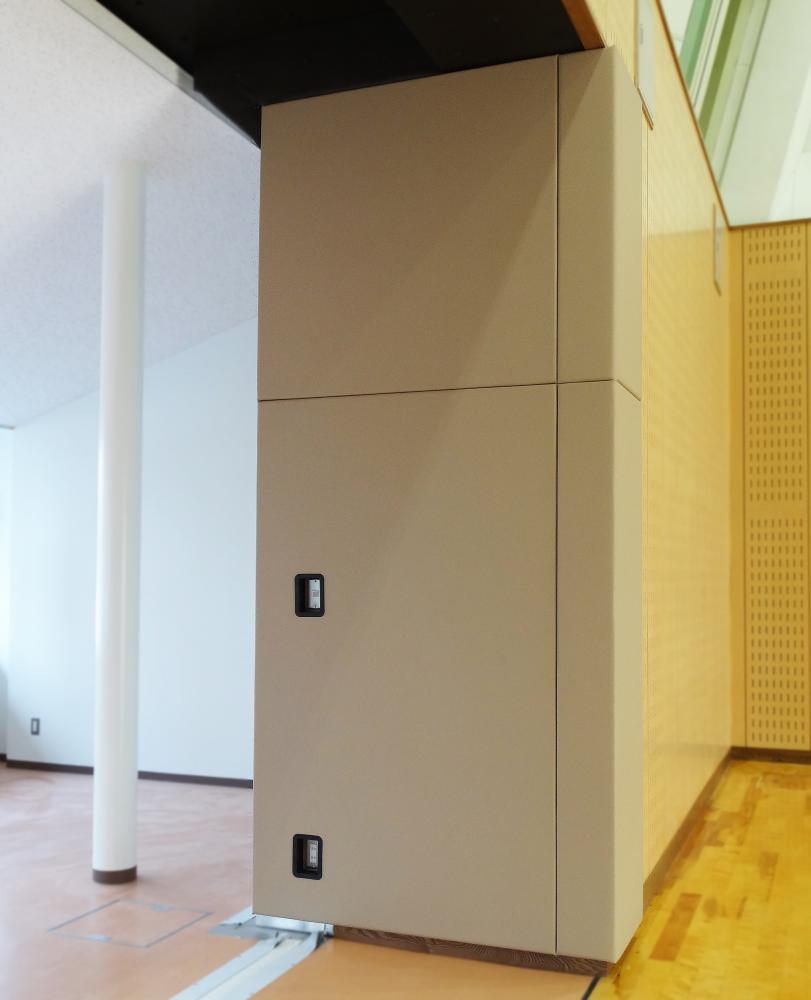 レザーシート仕上げ屋内防護マット ラテリア 栃木県下野市体育館