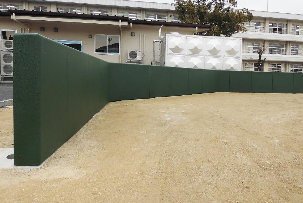 屋外防護マット ラテリアPU 高知県四万十市野球場