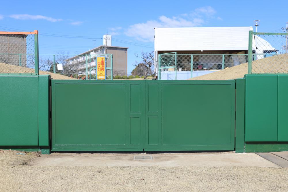 野球場ユニット式防護マット ラテリアPU 千葉県成田市野球場
