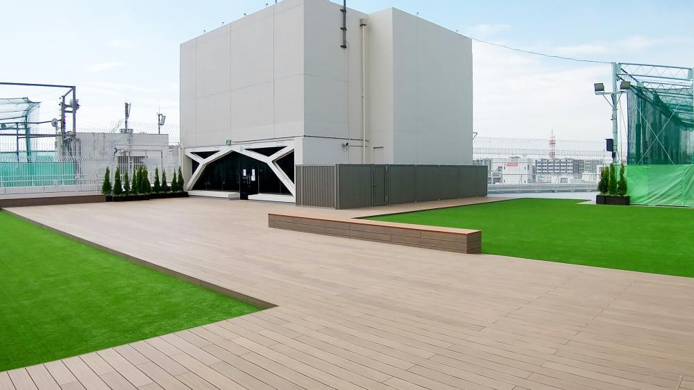 人工芝グレンターフ・アンダーマット サブターフ 埼玉県さいたま市商業施設屋上