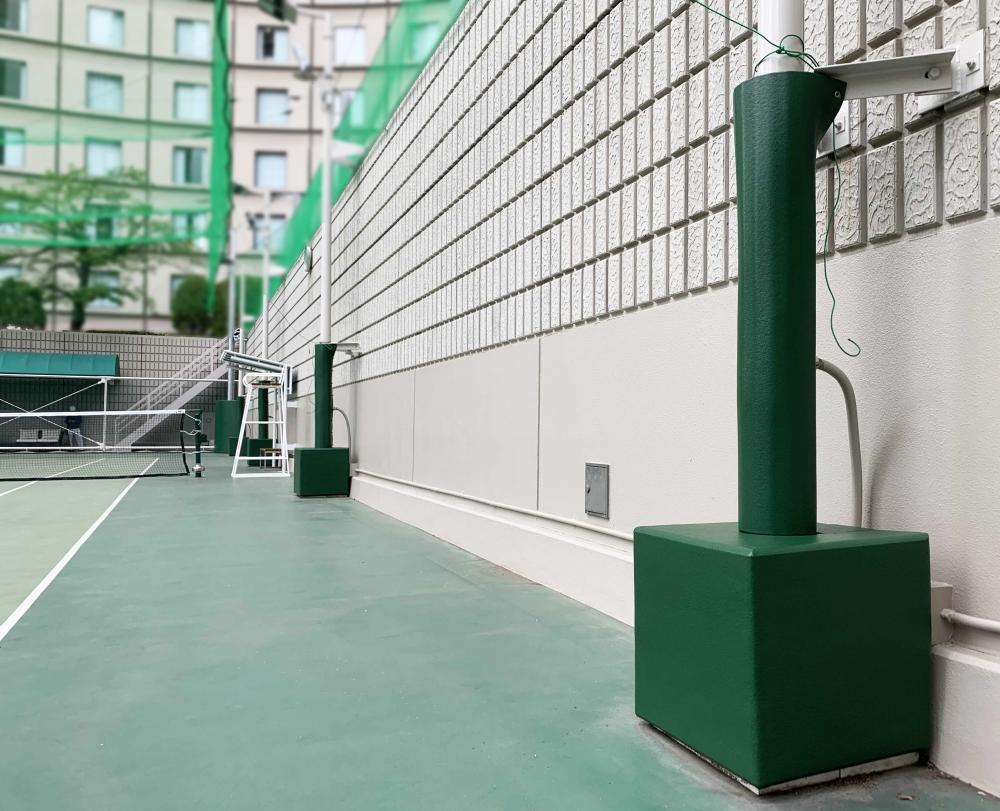 屋外防護マット ラテリアPU 東京都新宿区ホテル内屋外テニスコート