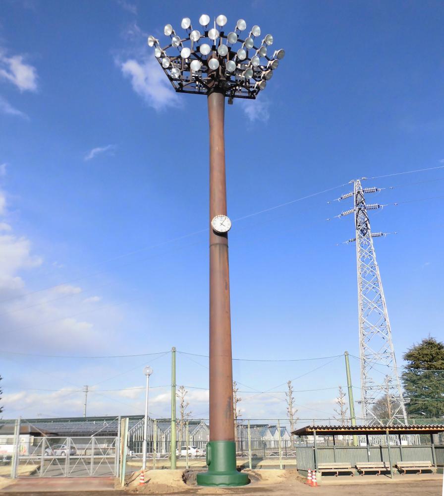 野球場現場吹付防護マット ラテリアPU-S 栃木県宇都宮市運動場