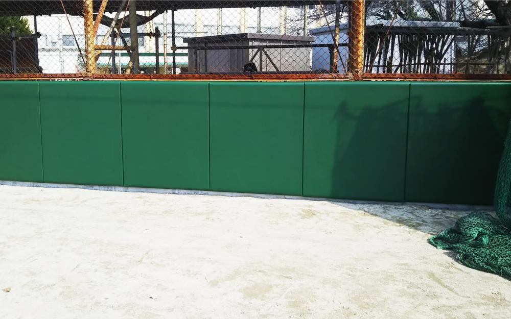 野球場ユニット式防護マット ラテリアPU 千葉県千葉市野球場