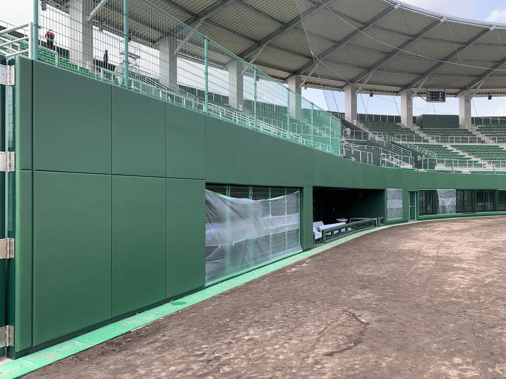 野球場ユニット式防護マット ラテリアPU 島根県出雲市野球場