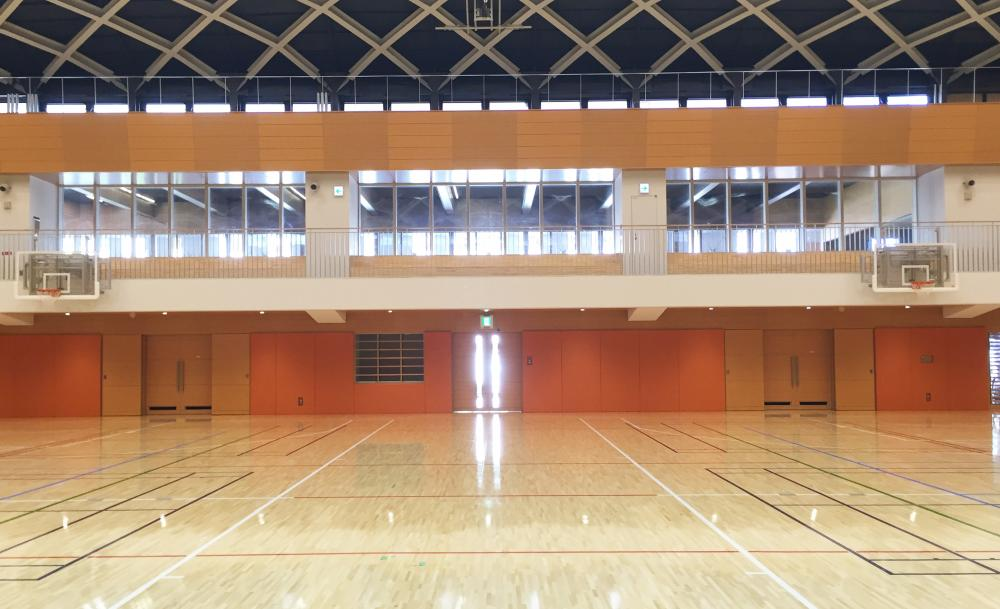 レザーシート仕上げ屋内防護マット ラテリア 東京都文京区総合体育館