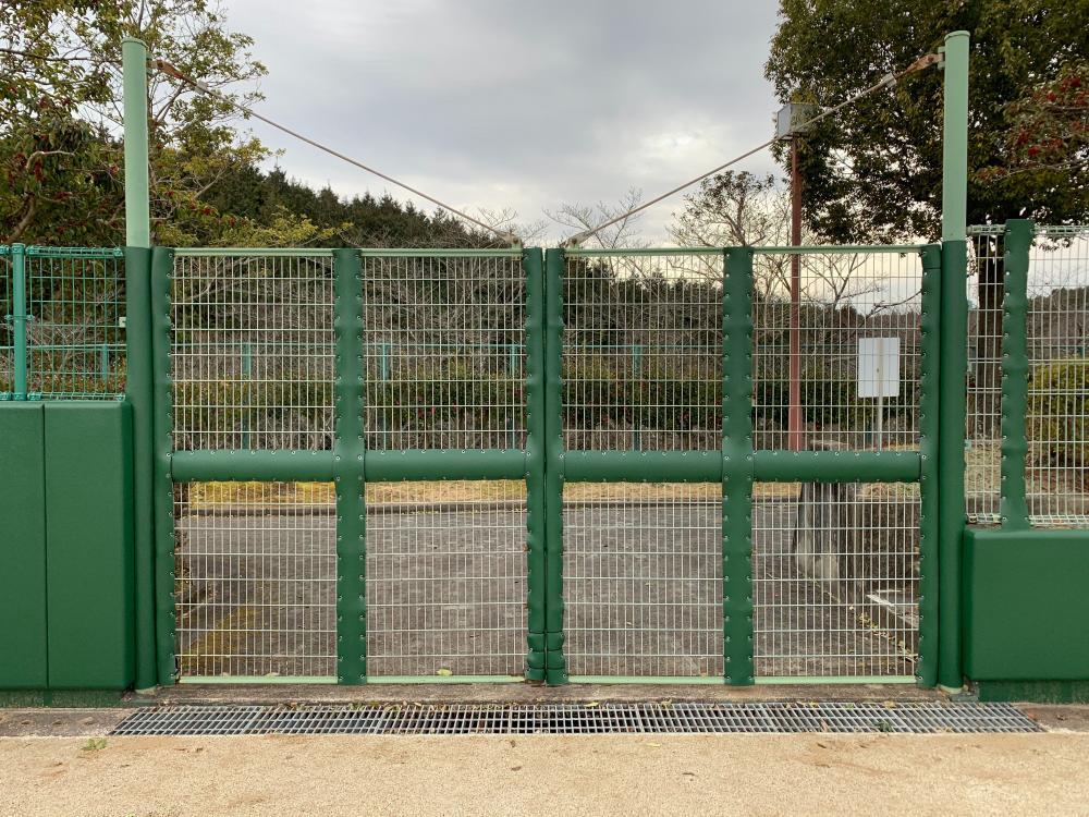 野球場ユニット式防護マット ラテリアPU 岐阜県恵那市野球場