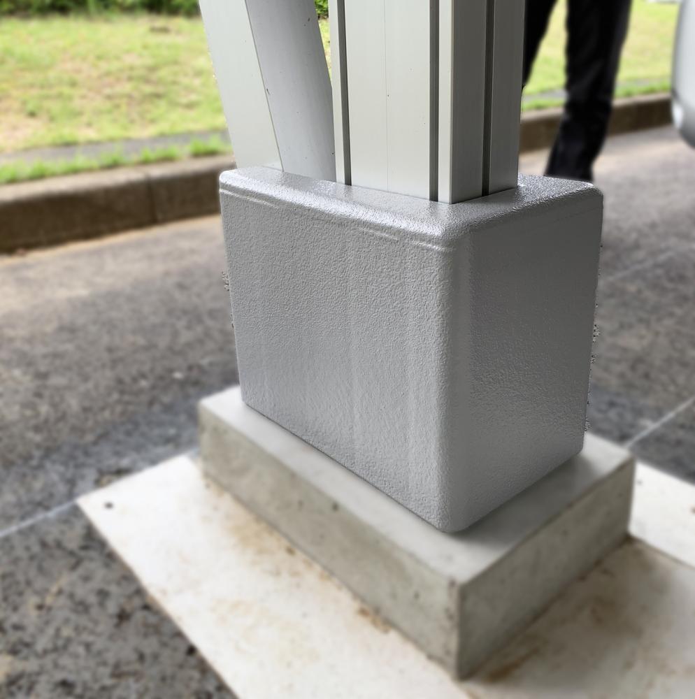 屋外防護マット ラテリアPE 千葉県香取市駐車場