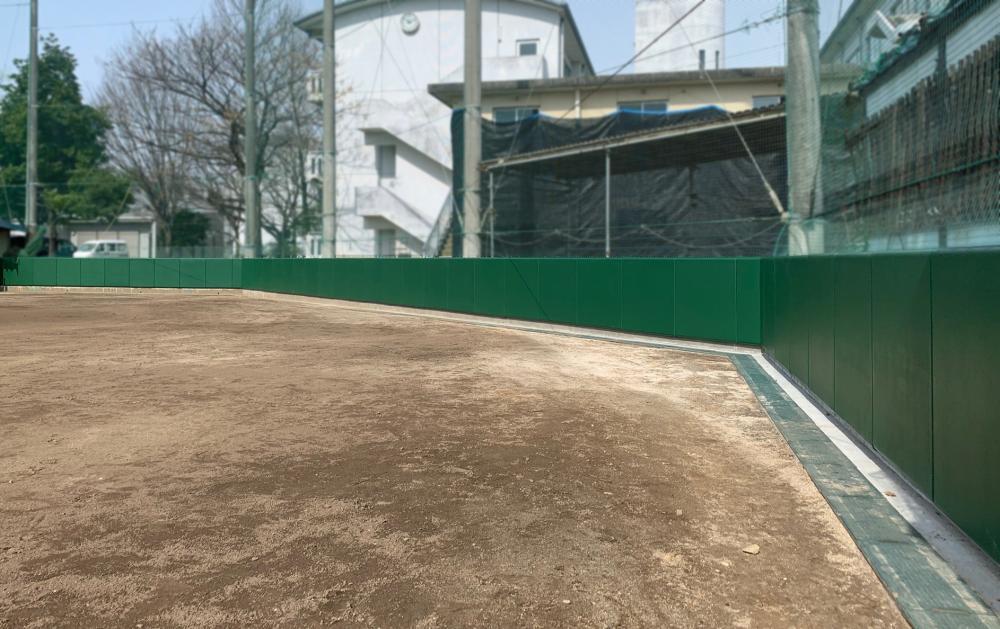 野球場ユニット式防護マット ラテリアPU 福岡県大牟田市野球場