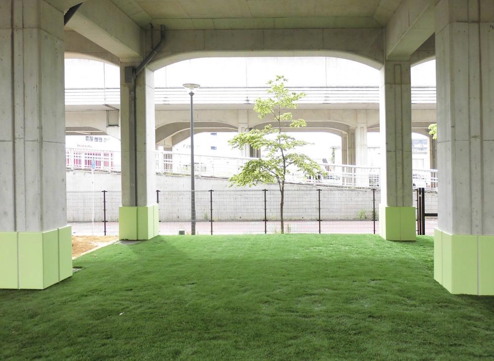 屋外防護マット ラテリアPU 神奈川県横浜市保育園