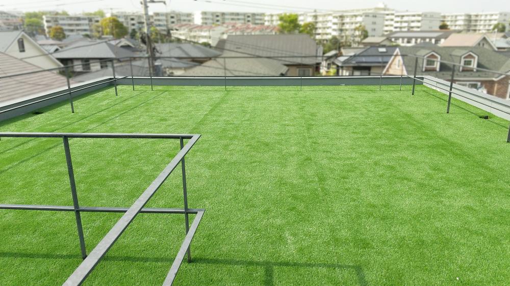 人工芝グレンターフ・アンダーマット サブターフ 神奈川県横浜市個人宅屋上
