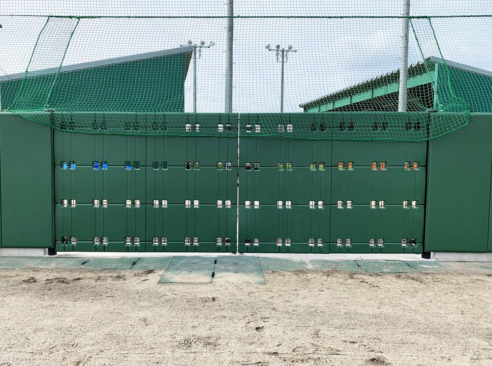 野球場ユニット式防護マット ラテリアPU 新潟県新潟市野球場