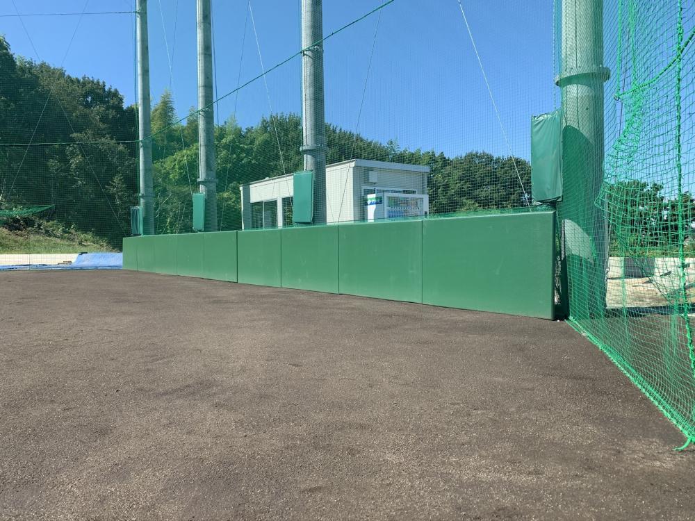 可動式壁面緩衝防護マット ラブロック 愛知県東海市野球場