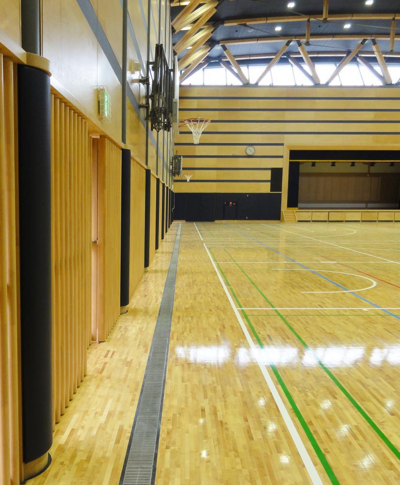 レザーシート仕上げ屋内防護マット ラテリア 東京都西東京市体育館