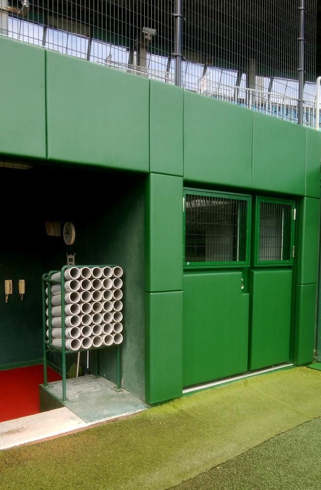 野球場ユニット式防護マット ラテリアPU 愛知県名古屋市野球場