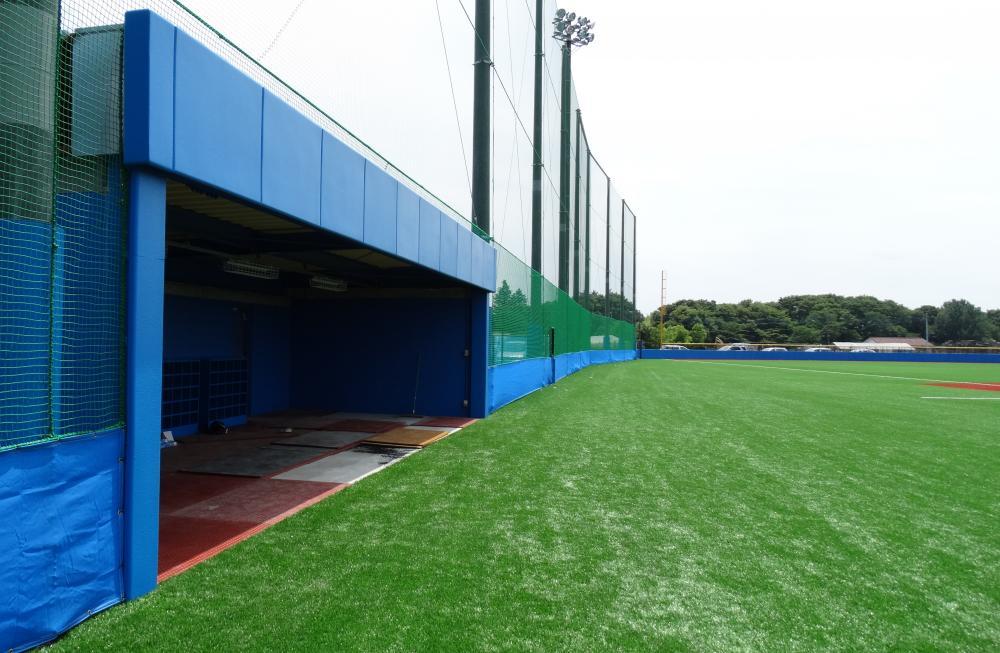 野球場ユニット式防護マット ラテリアPU 栃木県宇都宮市野球場