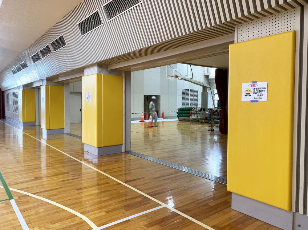 屋内防護マット ラテリアPU 静岡県浜松市中学高等学校
