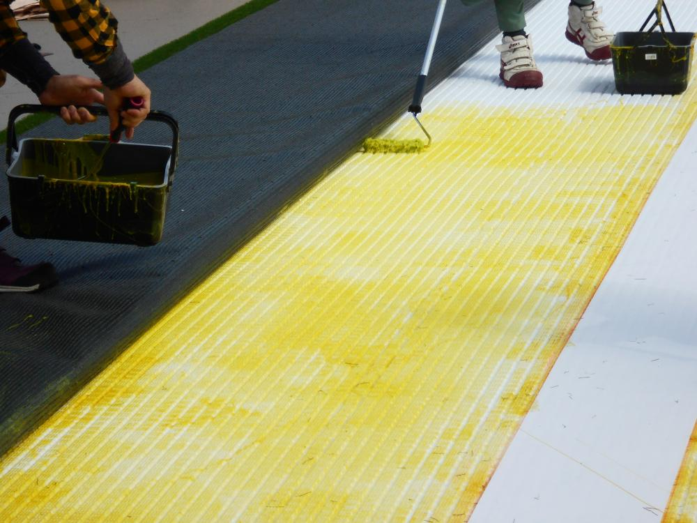 人工芝グレンターフ・アンダーマット サブターフ 静岡県静岡市商業施設屋上