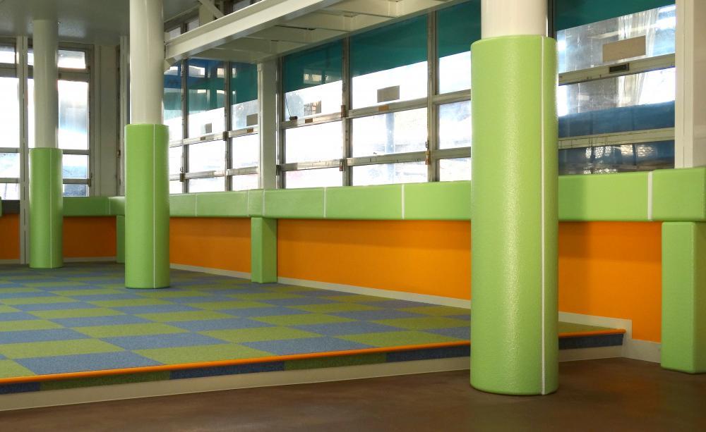屋内防護マット ラテリアPU 神奈川県平塚市商業施設