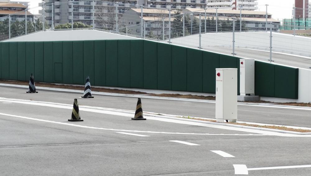 屋外防護マット ラテリアPU 東京都品川区教習所