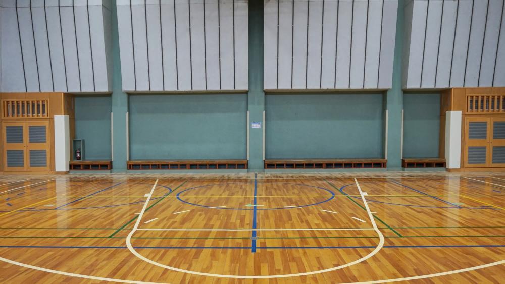 不燃シート仕上げ屋内防護マット ラテリアNF 神奈川県横浜市地区センター体育室