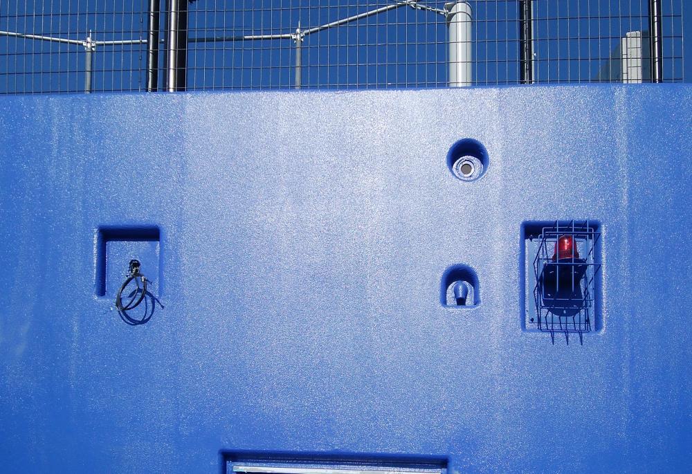 野球場現場吹付防護マット ラテリアPU-S 福岡県唐津市野球場