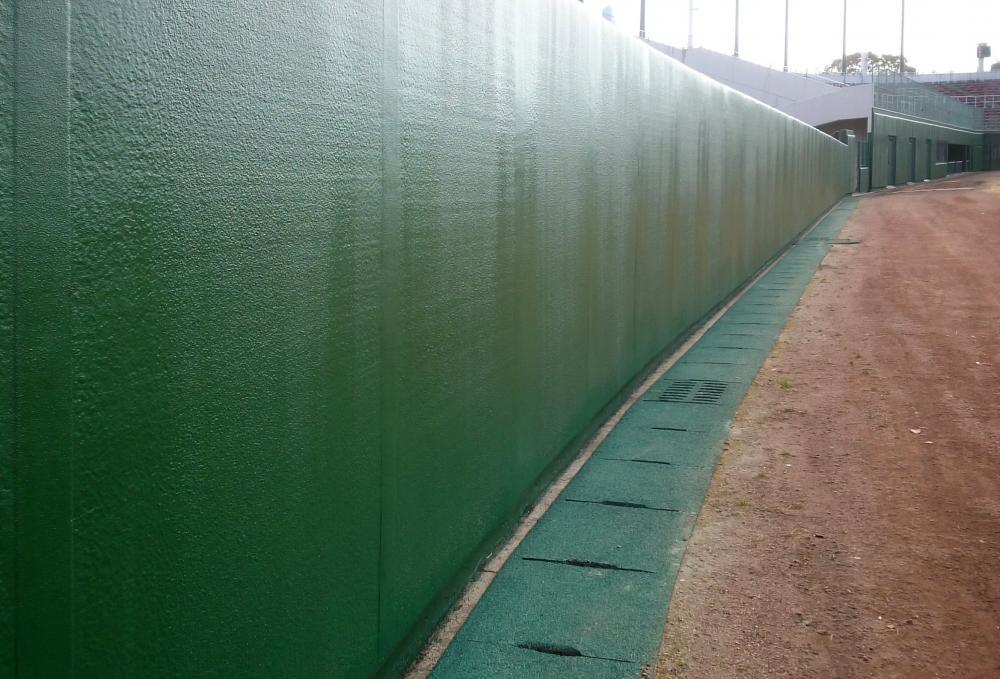 野球場現場吹付防護マット ラテリアPU-S 宮崎県都城市野球場
