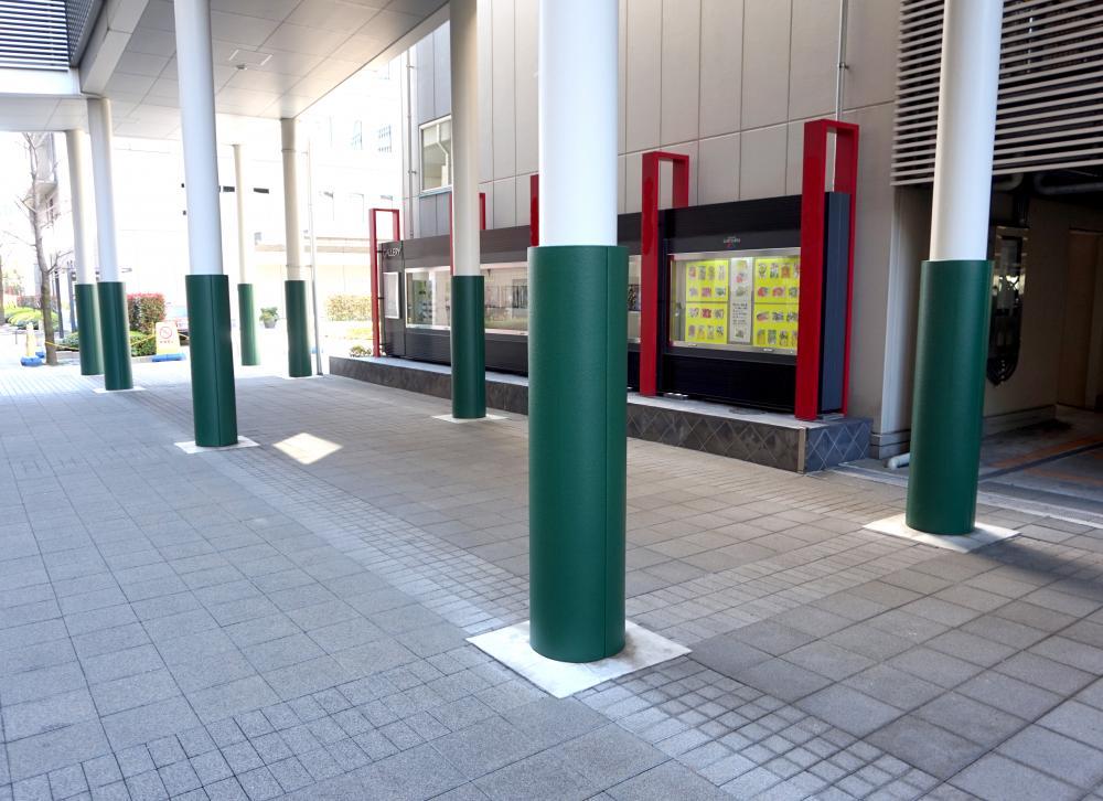屋外防護マット ラテリアPU 東京都江東区商業施設